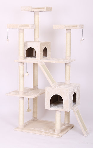 "PLAYHOUSE - Multi Level Cat Play House 27.5x23.5x70.5"""