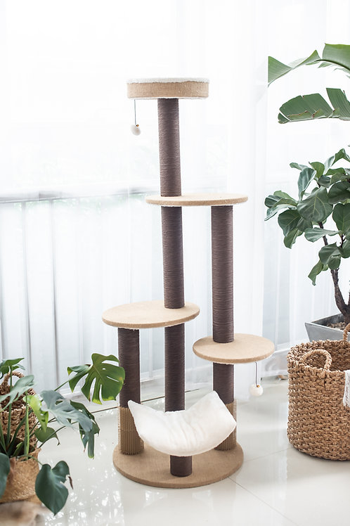 Petpals Clement 5 level Cat Bed, Perch, Paper Scratch Posts, and Hanging Toys
