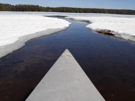 First Canoe on Keoka