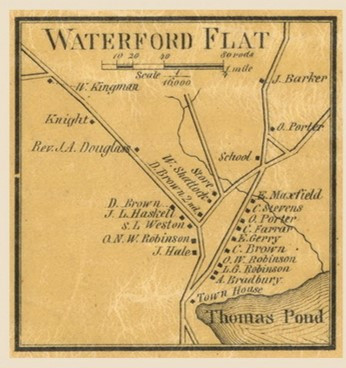 1858 Waterford Flat Map