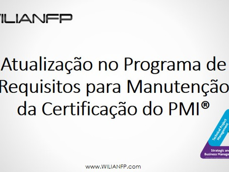 Triângulo de Talentos e a Atualização no Programa de Requisitos de Manutenção da Certificação do PMI