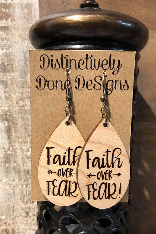 Laser Cut and Engraved Small Wood Earrings(Tap or click for options)