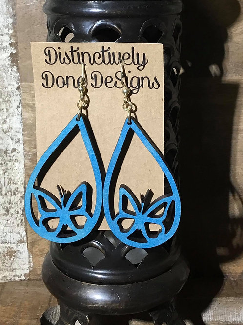 Laser Cut Wooden Earrings(Tap or click for options)