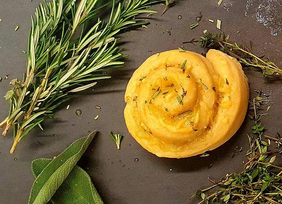 Smocked Cheese Garlic & Rosmary Bun