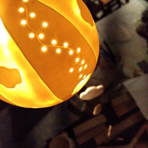 Montgolfière lumineuse-Nuage