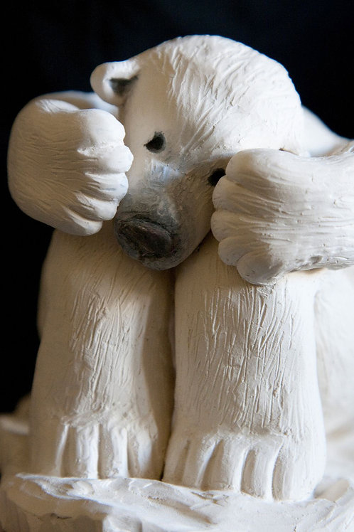 Sculpture larmes d'ours                         Collection TOUS UNIS