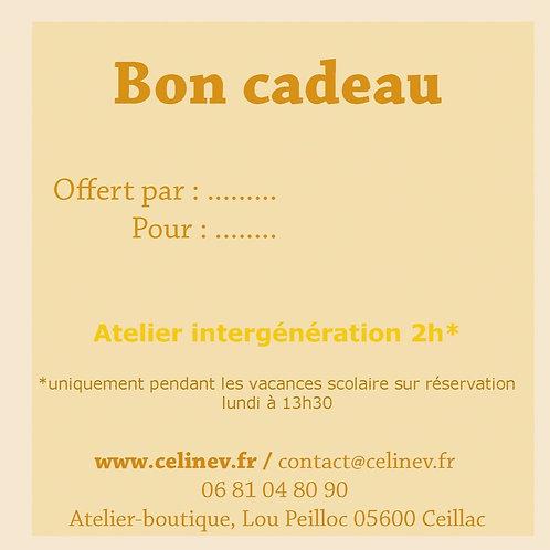 Atelier intergénération (10 ....110 ans), 2h