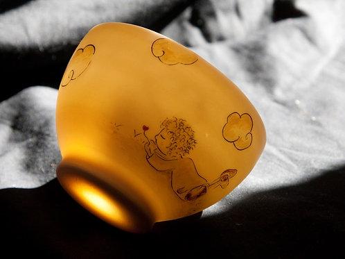 Bol en porcelaine décoré à la main, pièce unique-amoureux