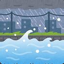 堤防や中州に注意