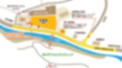 夏季限定有料駐車場と西大芦フォレストビレッジの見取り図