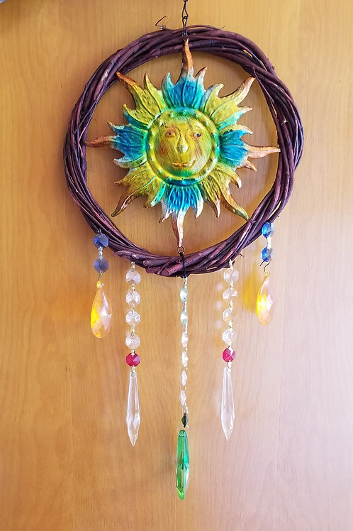 Sun Catcher With Metal Sun topical vibe