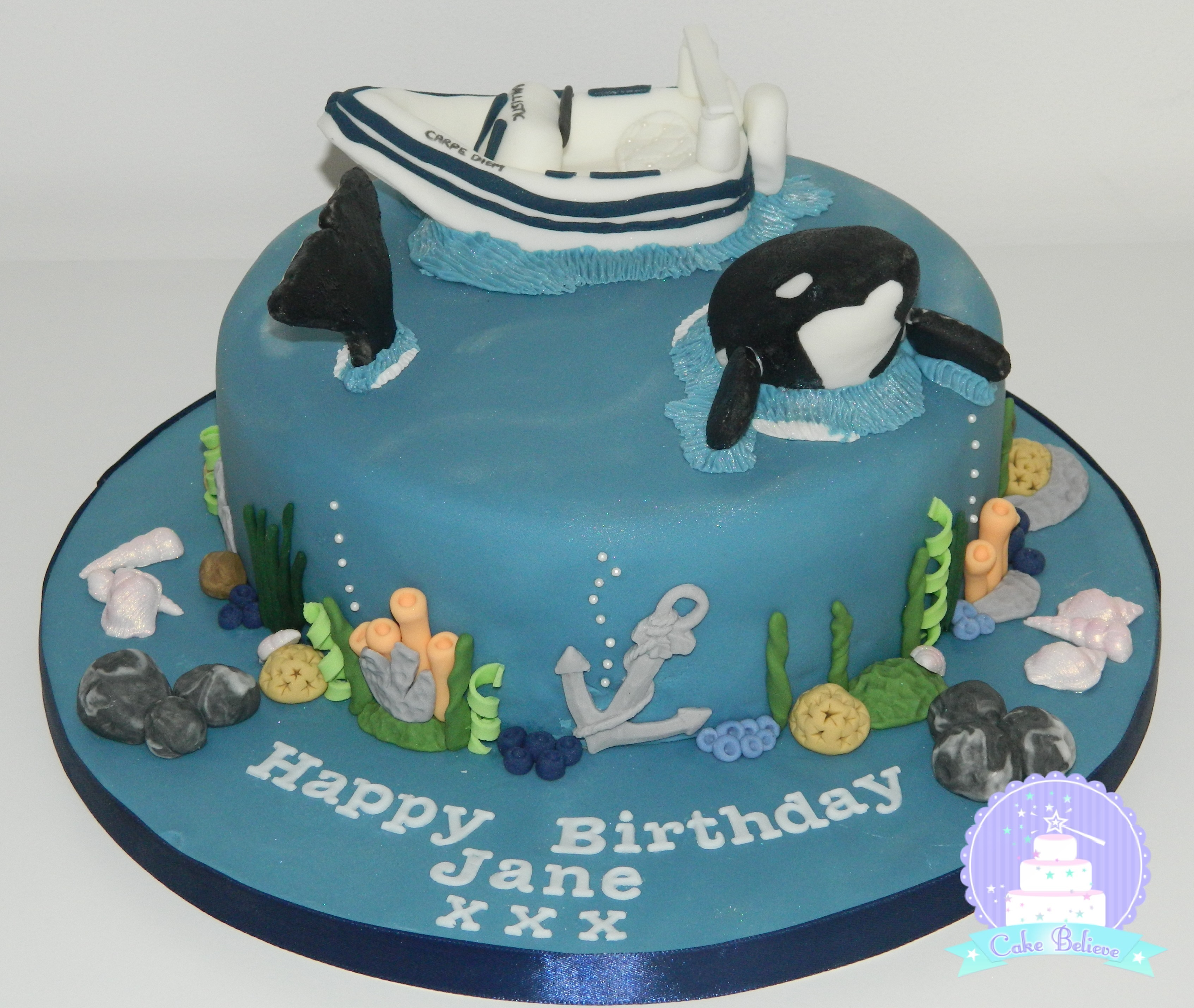 Whale watching cake