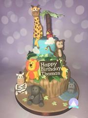 Zoo animal cake