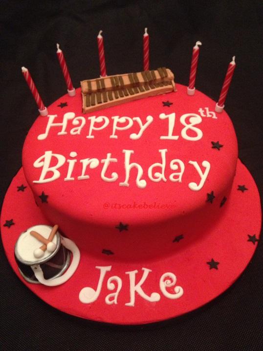 Jake music cake