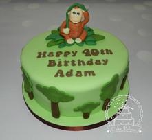 Orangutan cake