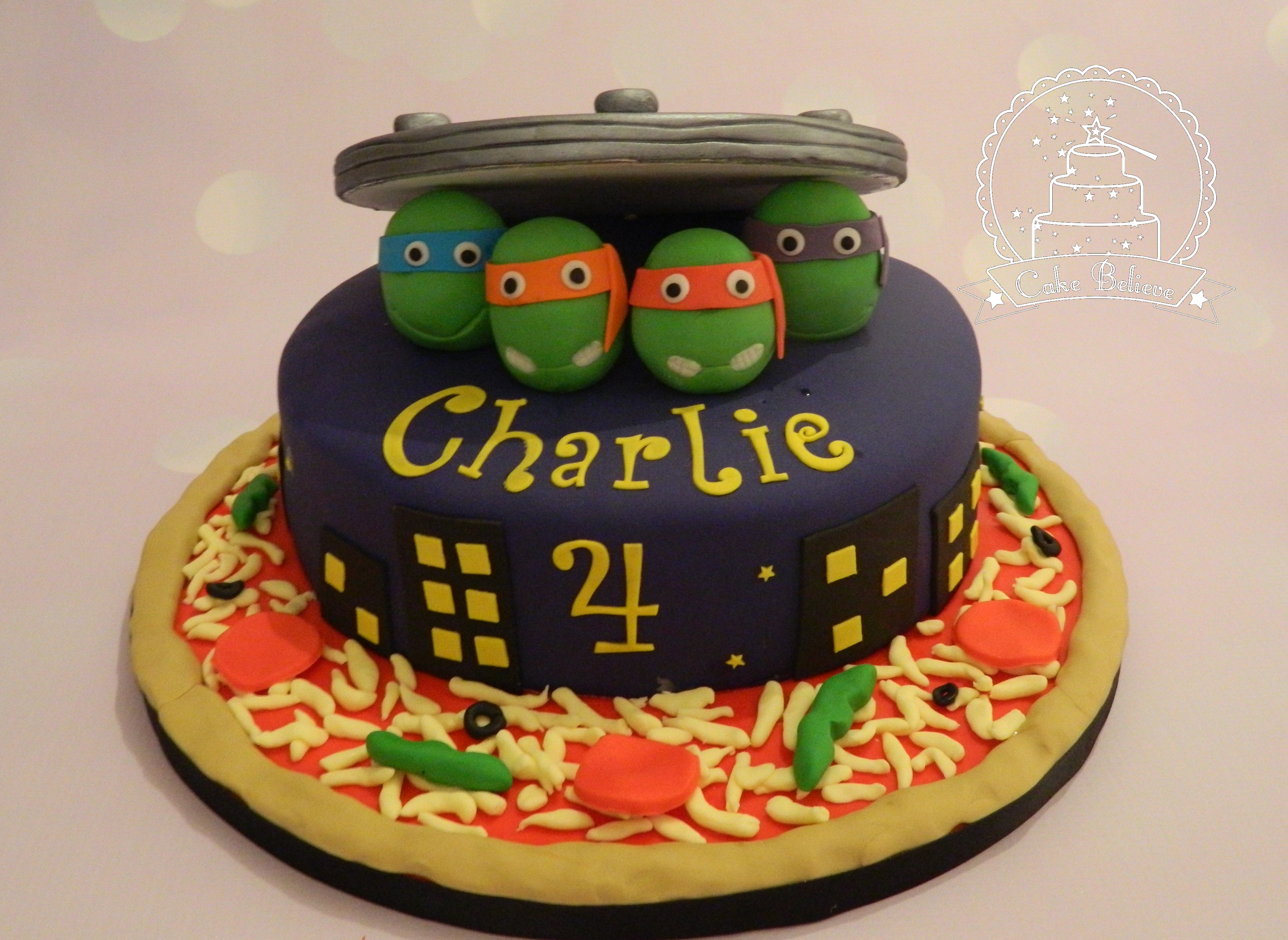 teenage turtle cake