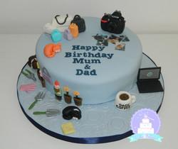 Hobby cake mum and dad