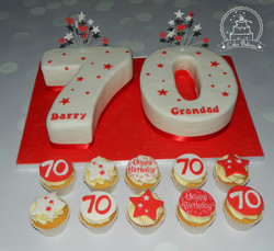 70 and cupcakes