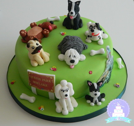 A charity cake for a dog show