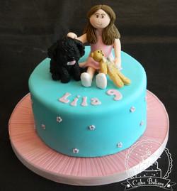 Lila and dog