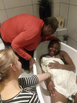 Winnie Twala and mother
