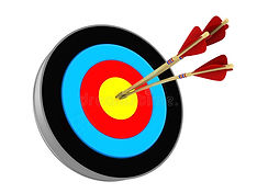 archery-target-d-illustration-three-arro