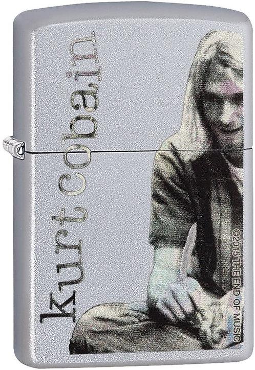 Zippo Kurt Cobain Satin Chrome Lighter