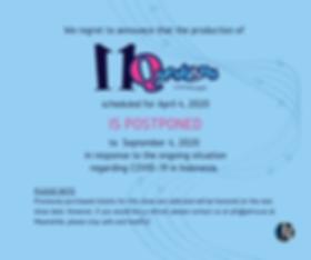 11Q Facebook Post - postpone announcemen