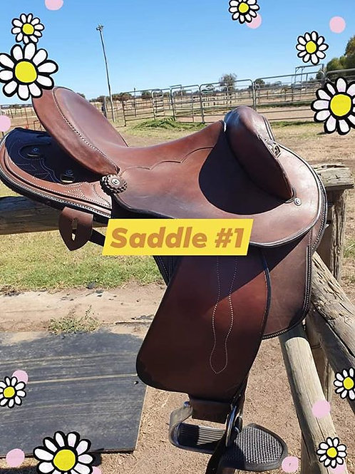 Full seat Texas T Half Breed Stocksaddle