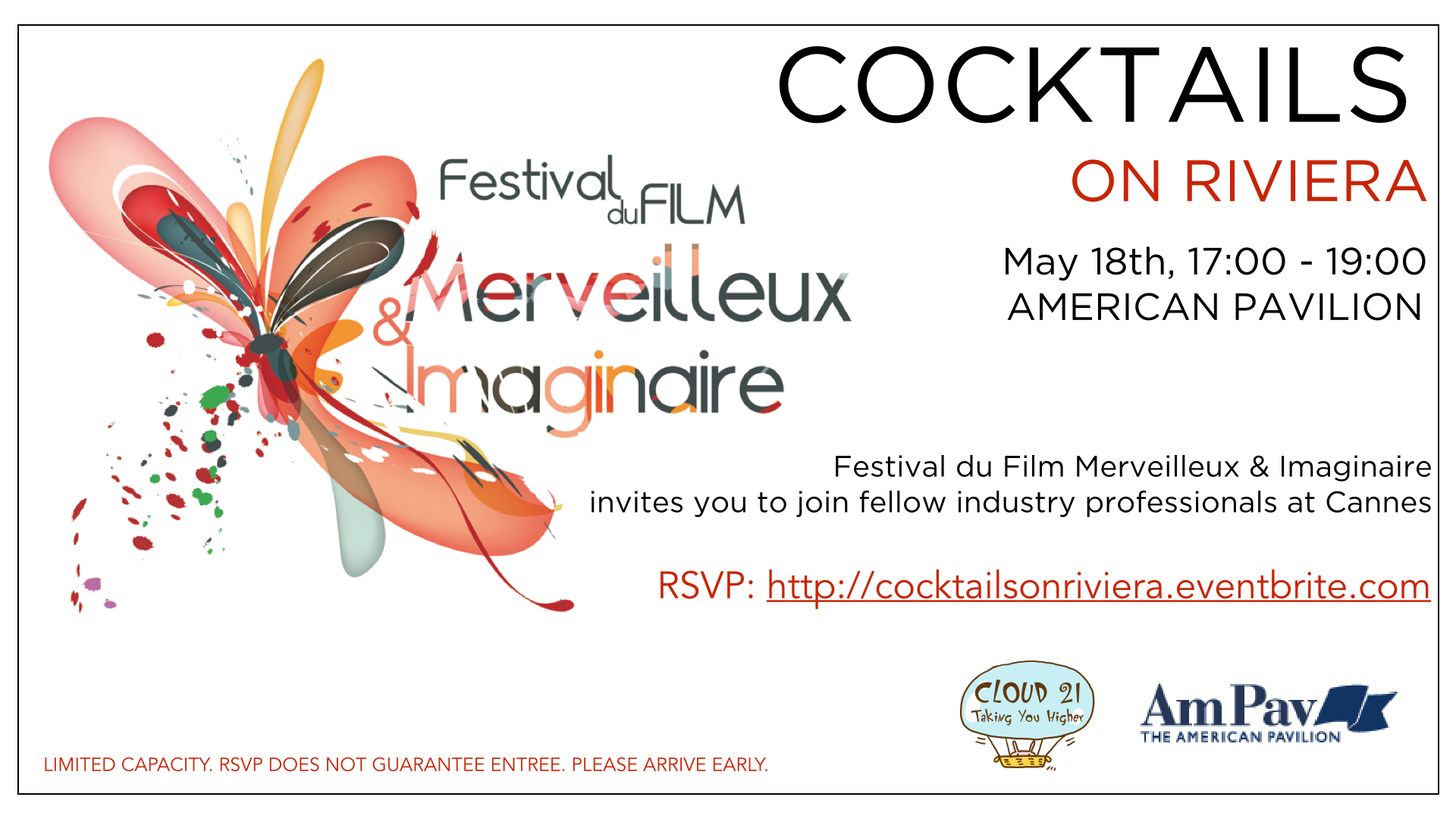 cocktail Invitation cannes 2015