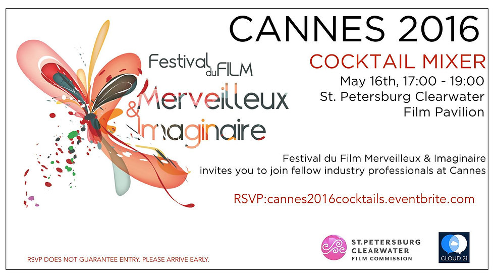 Festival de cannes Parties cocktail invitation