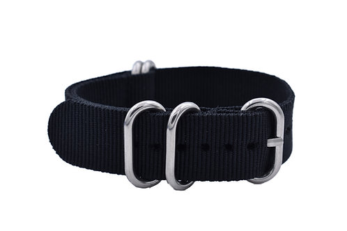 HD Nylon 5-Ring - Black(20mm/22mm)