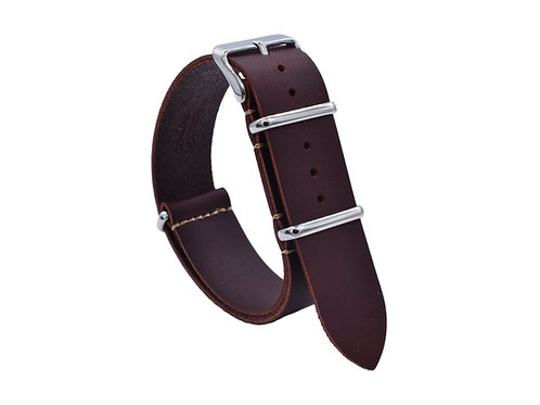 Premium One-Piece Leather Strap - Vinage Red  (18mm/20mm/22mm)
