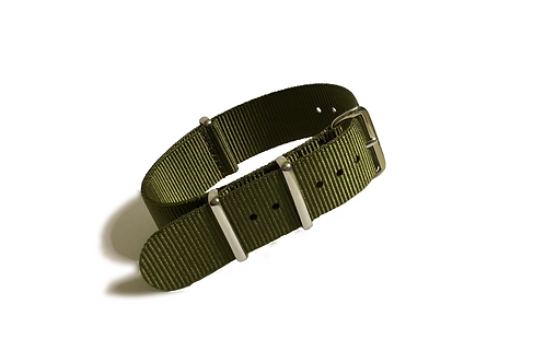 Signature Line Nylon - Olive Green (18mm/20mm/22mm)