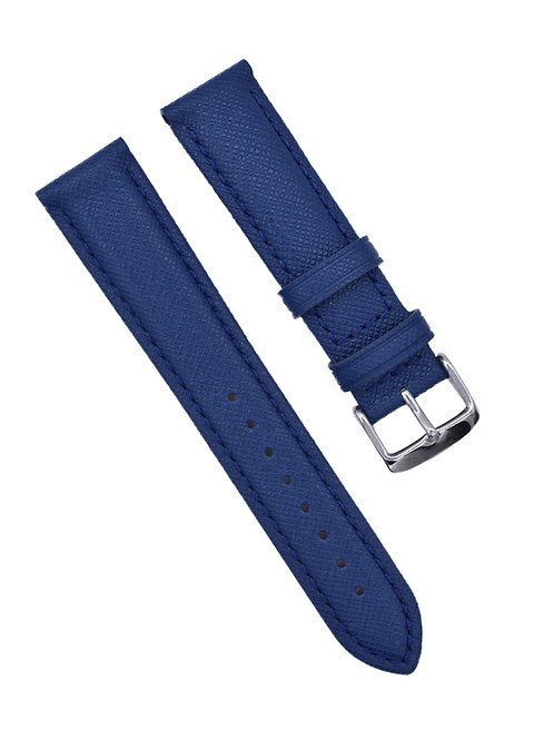 LuxBand - Saffiano Finish - Azul (18mm/20mm)