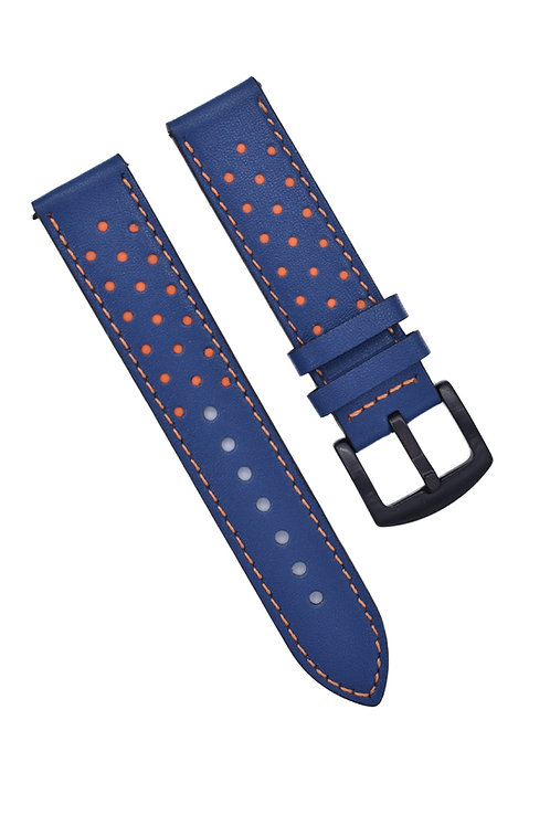 Perforated 2 Strap - Cool Blue & Orange (18mm/20mm/22mm)