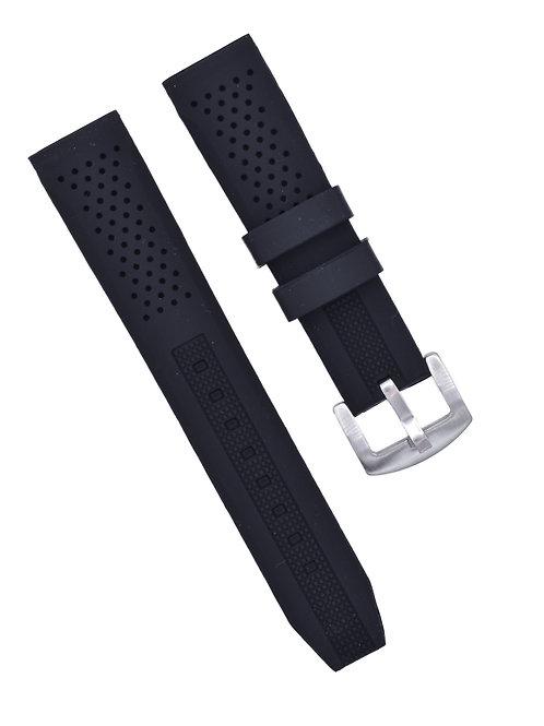 Diver 2 Strap - Rubber Silicone - Black (18mm/20mm/22mm)