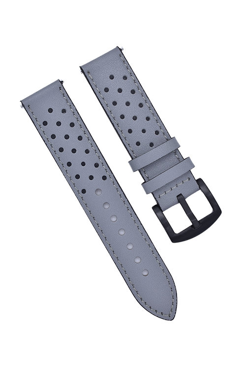 Perforated 2 Strap - Grey & Black (18mm/20mm/22mm)