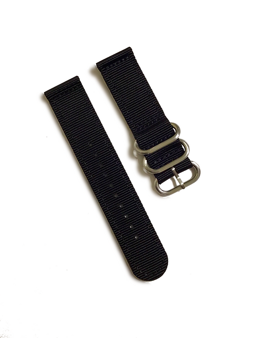 Heavy Duty 2-Piece Nylon  - Black (22mm)
