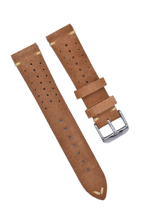 Perforated Suede - Light Brown (18mm/20mm/22mm)