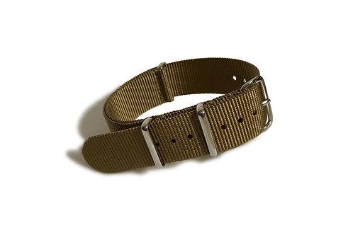 Signature Line Nylon -  Dark Khaki (20mm)