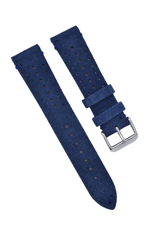 Perforated Suede -  Navy (18mm/20mm/22mm)