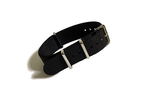 Signature Line Nylon - Black (18mm/20mm/22mm)