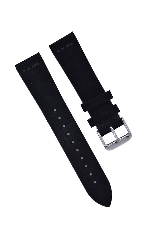 Suede - Handmade - Tuxedo (Black) (20mm/22mm)