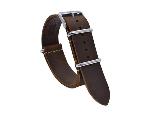 Premium One-Piece Leather Strap - Tierra Brown  (18mm/20mm/22mm)