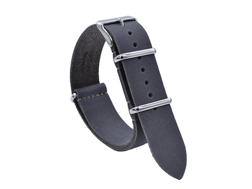 Premium One-Piece Leather Strap - Stone Grey (18mm/20mm/22mm)