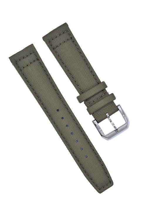 2-Piece Canvas Military Style Band {Updated} - Olive Green (20mm/22mm)