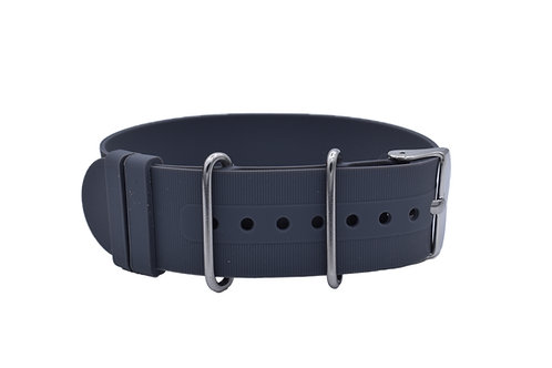 Diver Strap - Rubber Silicone - Grey(18mm/20mm/22mm)