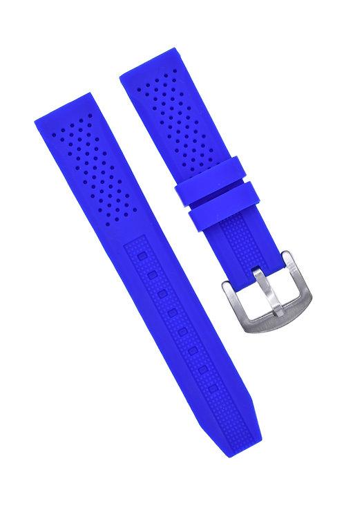 Diver 2 Strap - Rubber Silicone - Blue (18mm/20mm/22mm)