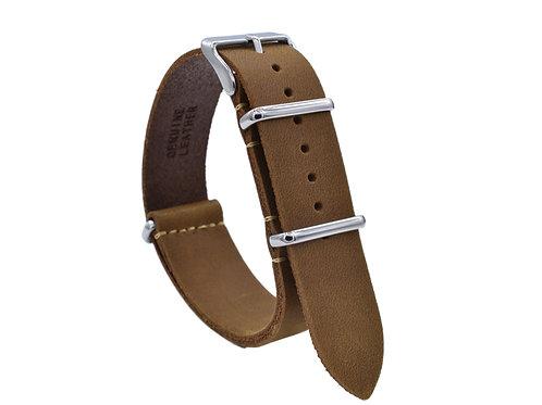 Premium One-Piece Leather Strap - Dessert Tan (18mm/20mm/22mm)